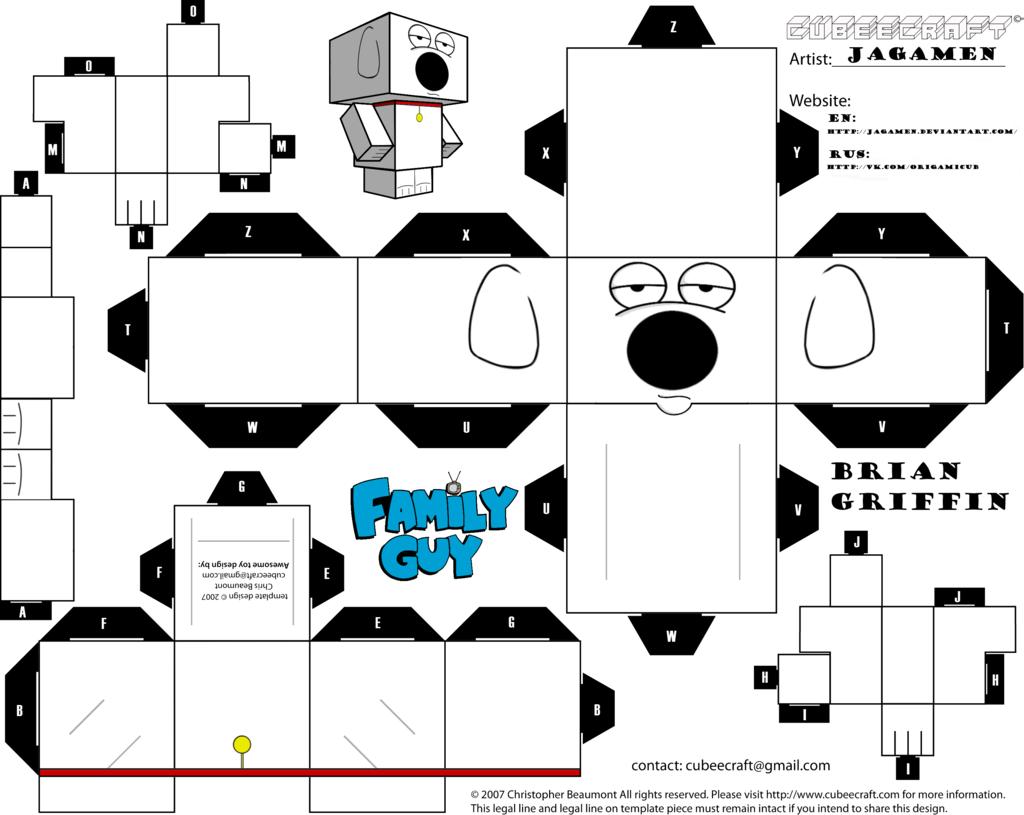 Brian Griffin Cubeecraft by JagaMen.deviantart.com on @DeviantArt