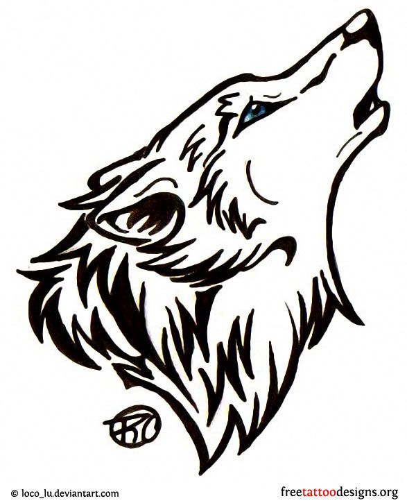 Wolf head tattoo design | Tattoos | Pinterest | Head ...