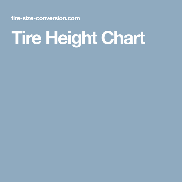 Tire Height Chart