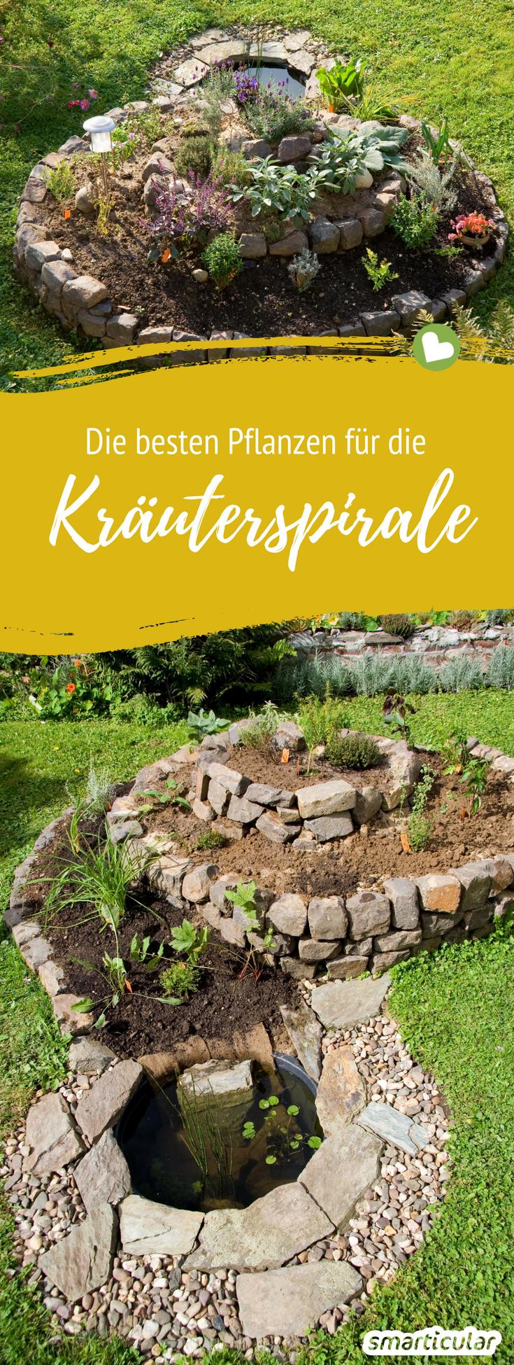 Immer frische Kräuter: Kräuterspirale richtig anlegen und bepflanzen #kräutergartendesign