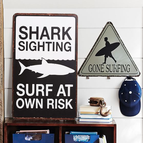 Surf Signs Decor Gorgeous Metal Surf Signs  Pbteen For The Bathroom ❤  Decor Design Ideas