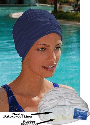 Fashy Royal Solid Swim Cap - Blue - PVC Free - Made in Germany ...