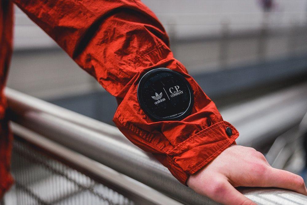 adidas cp company jacket red