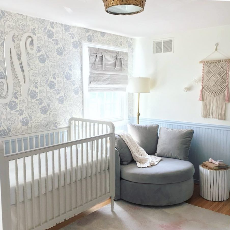 Blue And Pink And Oh So Dreamy Projectnursey Nursery Babysroom Desig Chambre Bebe Chambre Bebe Design Decoration Chambre Bebe