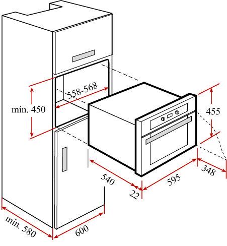Muebles para hornos empotrables saferbrowser yahoo image for Medidas de hornos de cocina