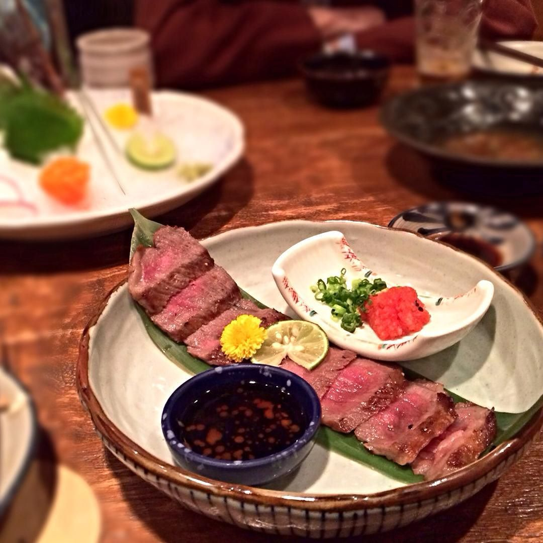 Beef tataki on point! 輕燒沖繩和牛 ($280) #pighead_cwb #pighead_japanese by pigheadxx