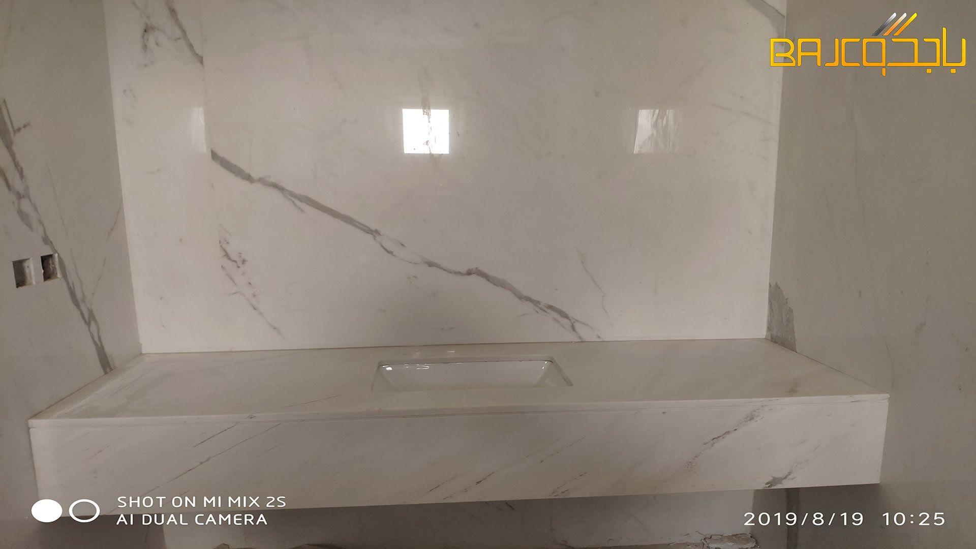 مغسلة إيطالي Marble Bathtub Bathroom