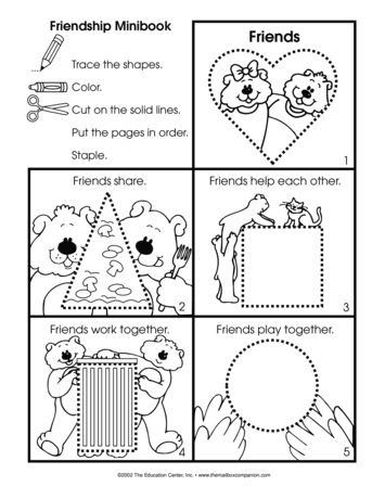 A Friendship Booklet Project Is Appropriate For Anytime Of Year February Is Also Internationa Preschool Friendship Friendship Theme Preschool Friendship Theme