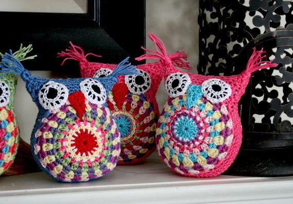 Cute Little Amigurumi Owl : These are so stinking cute crochetaway amigurumi