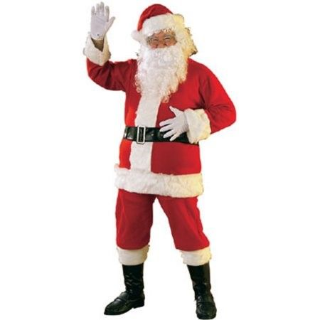 Santa Claus Suit Size Mens Fancy Dress Father Christmas Adult Costume L-XL
