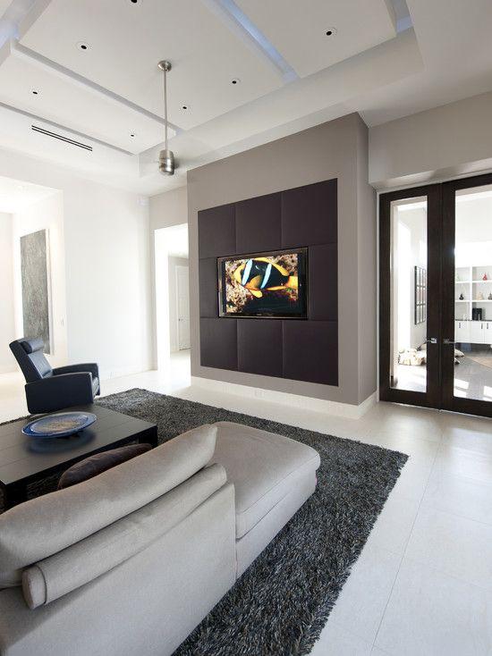 Media Room Wall Mount Tv Design Pictures Remodel Decor