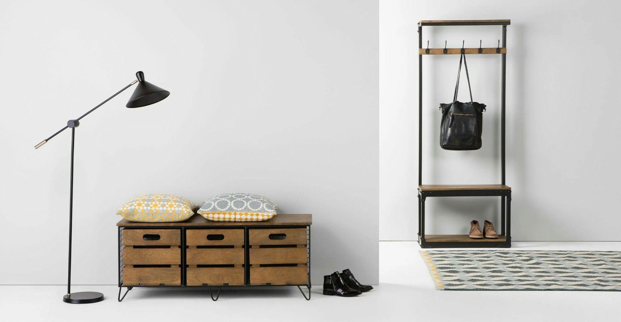 Hallway furniture oak Pin by Gabie Ross on Diseño  Pinterest