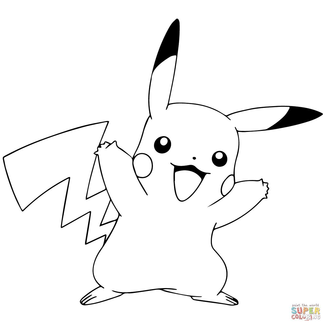 Pikachu Pokemon Go Coloring Pages Pikachu Coloring Page Pokemon