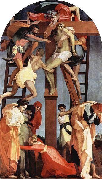 Rosso Fiorentino: Rosso Fiorentino - 'Deposition de croix' - 1521 - Pinacoteca de Volterra