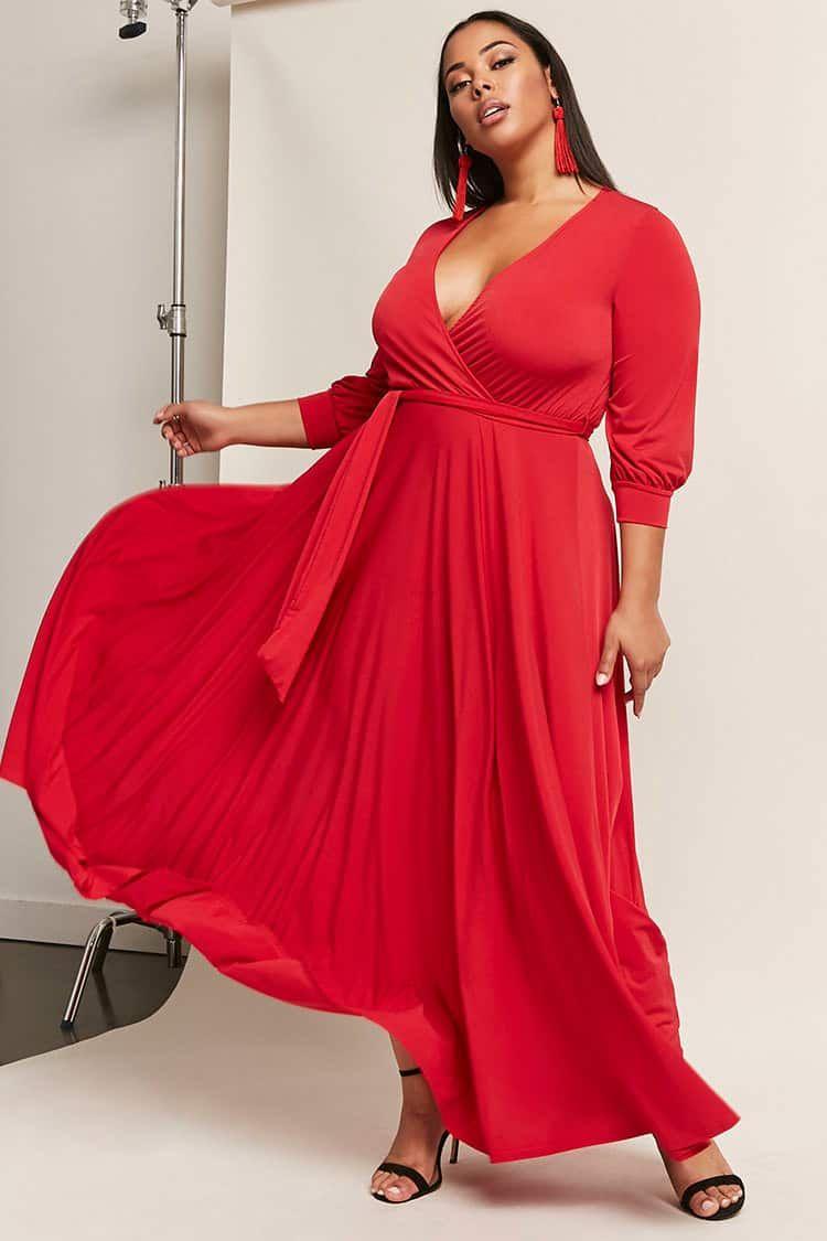 Plus Size Surplice Maxi Dress Stylish Maxi Dress Girls Maxi Dresses Curvy Maxi Dress [ 1125 x 750 Pixel ]