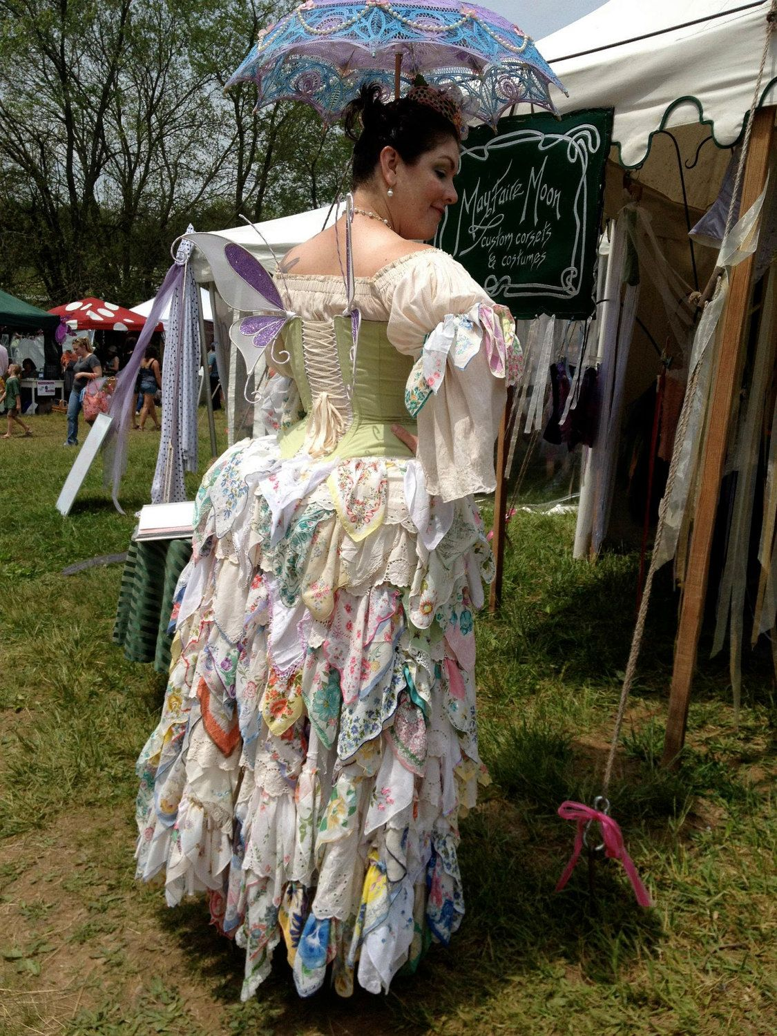This handkerchief bustle inspired the wedding dress thread in Some Girls Do.