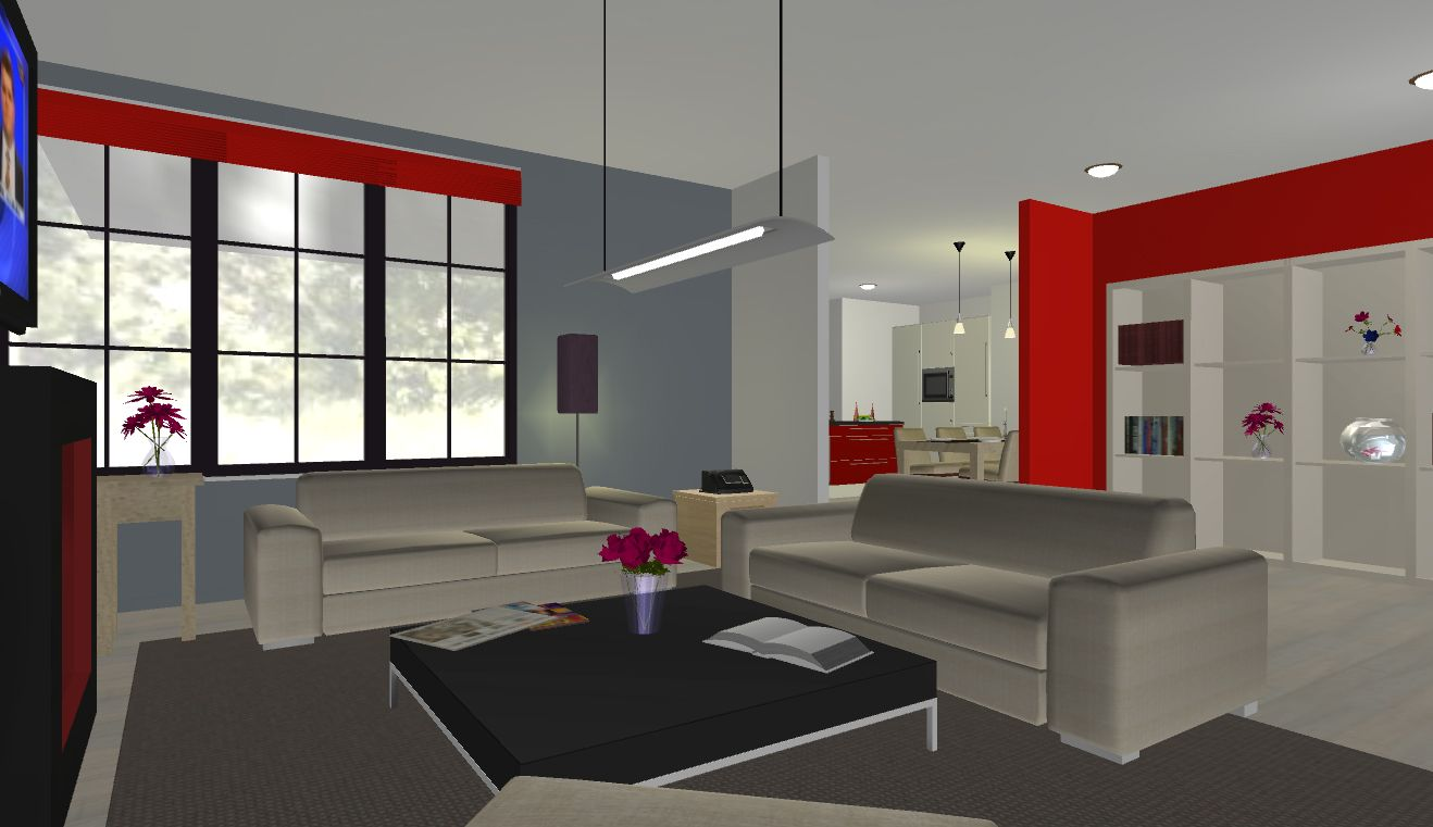 Sophisticated Free Online Room Design Software Resulting 3D Living Plan With Stylish Sofa Set