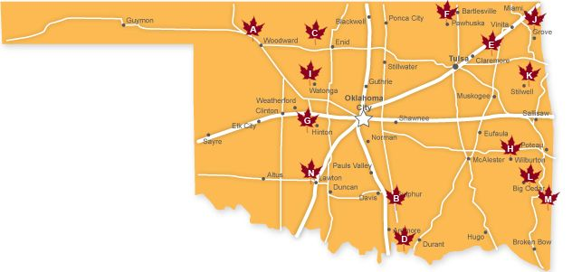 Check Out TravelOKs Interactive Map To See Where To Find The Best - Map of the state of oklahoma