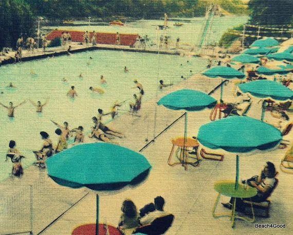 Summer Art Beach Art Beach Wall Art Swimming Pool Decor | Swimming ...