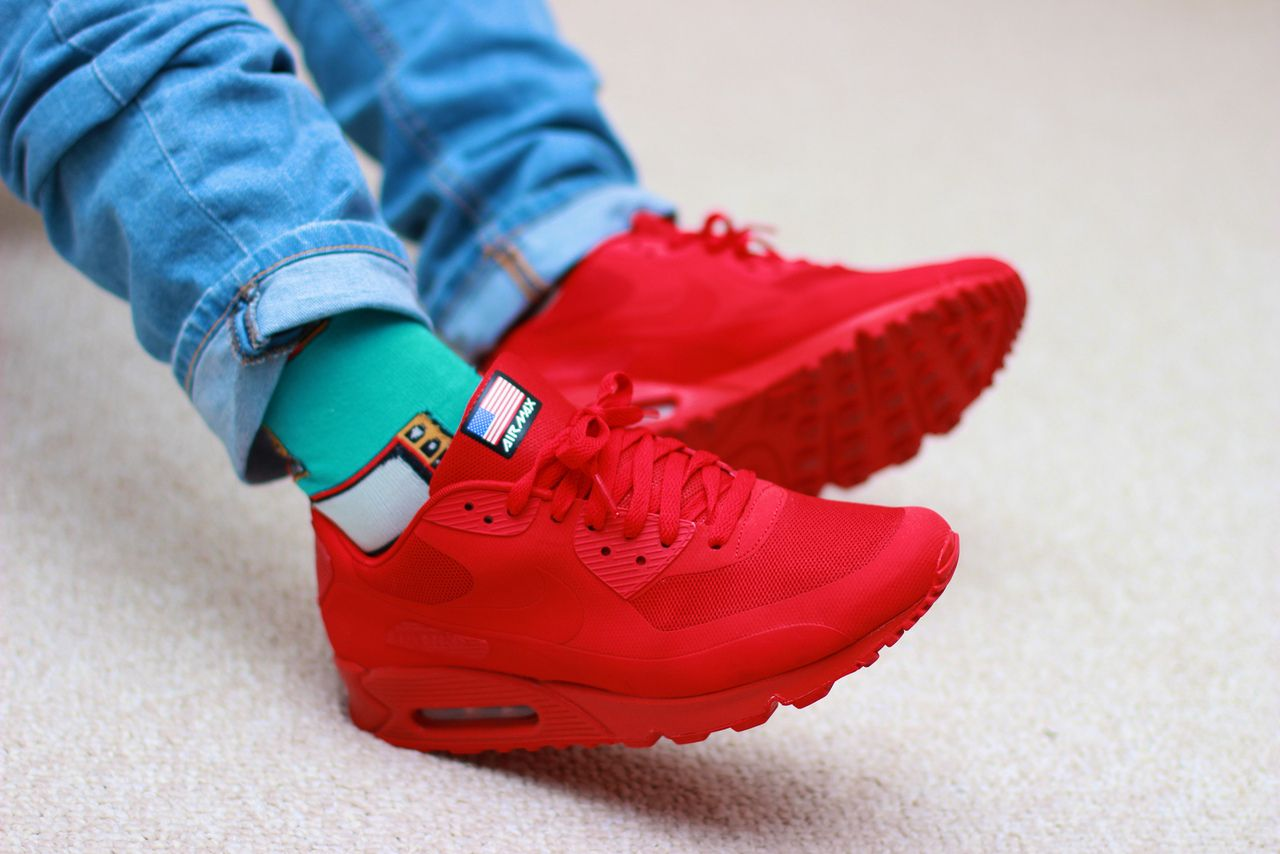 Compuesto Descendencia invención  Nike Air Max 90 Hyperfuse 'Independence Day' Red... – Sweetsoles –  Sneakers, kicks and trainers. On feet. | Nike fashion, Nike air max, Nike  air max 90