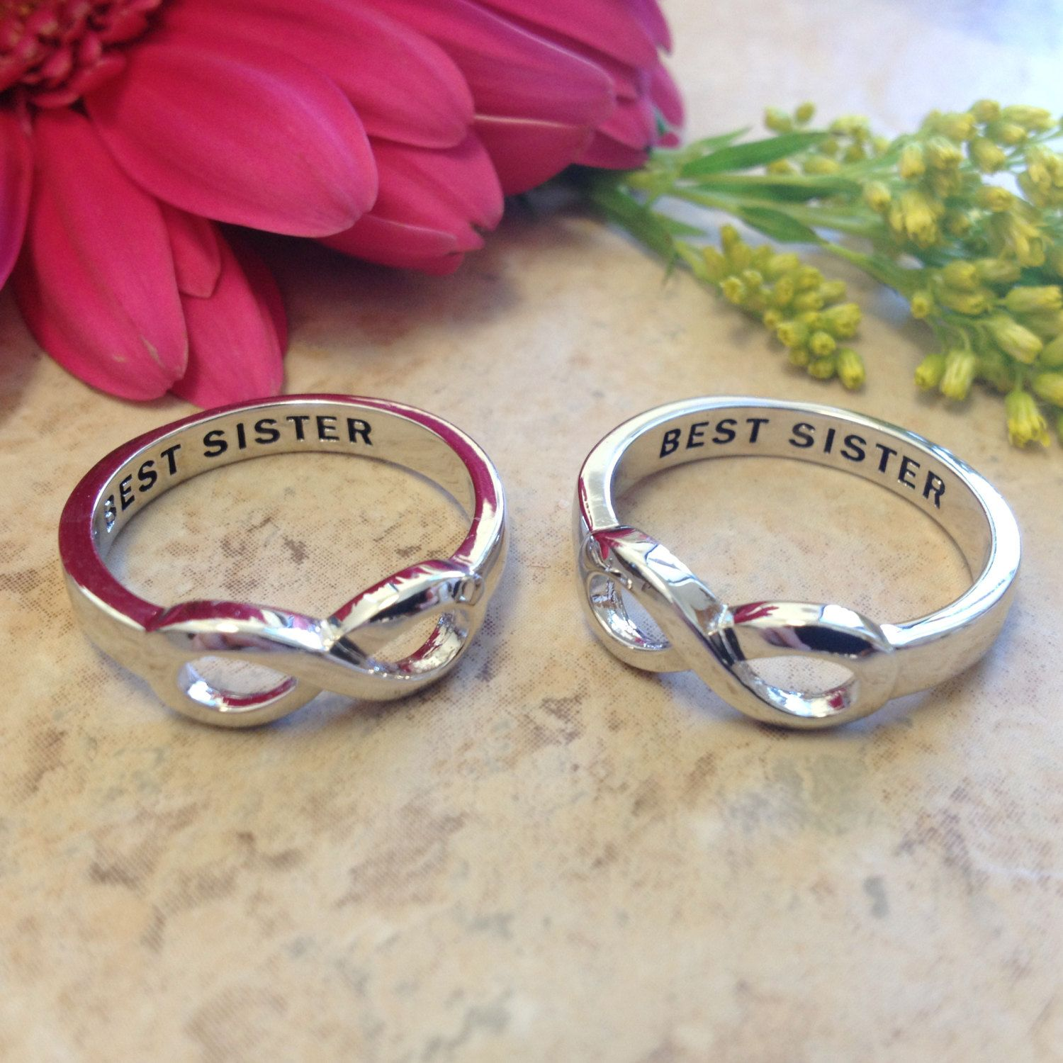 BEST SISTER infinity ring | Christmas presents | Pinterest | Ringe
