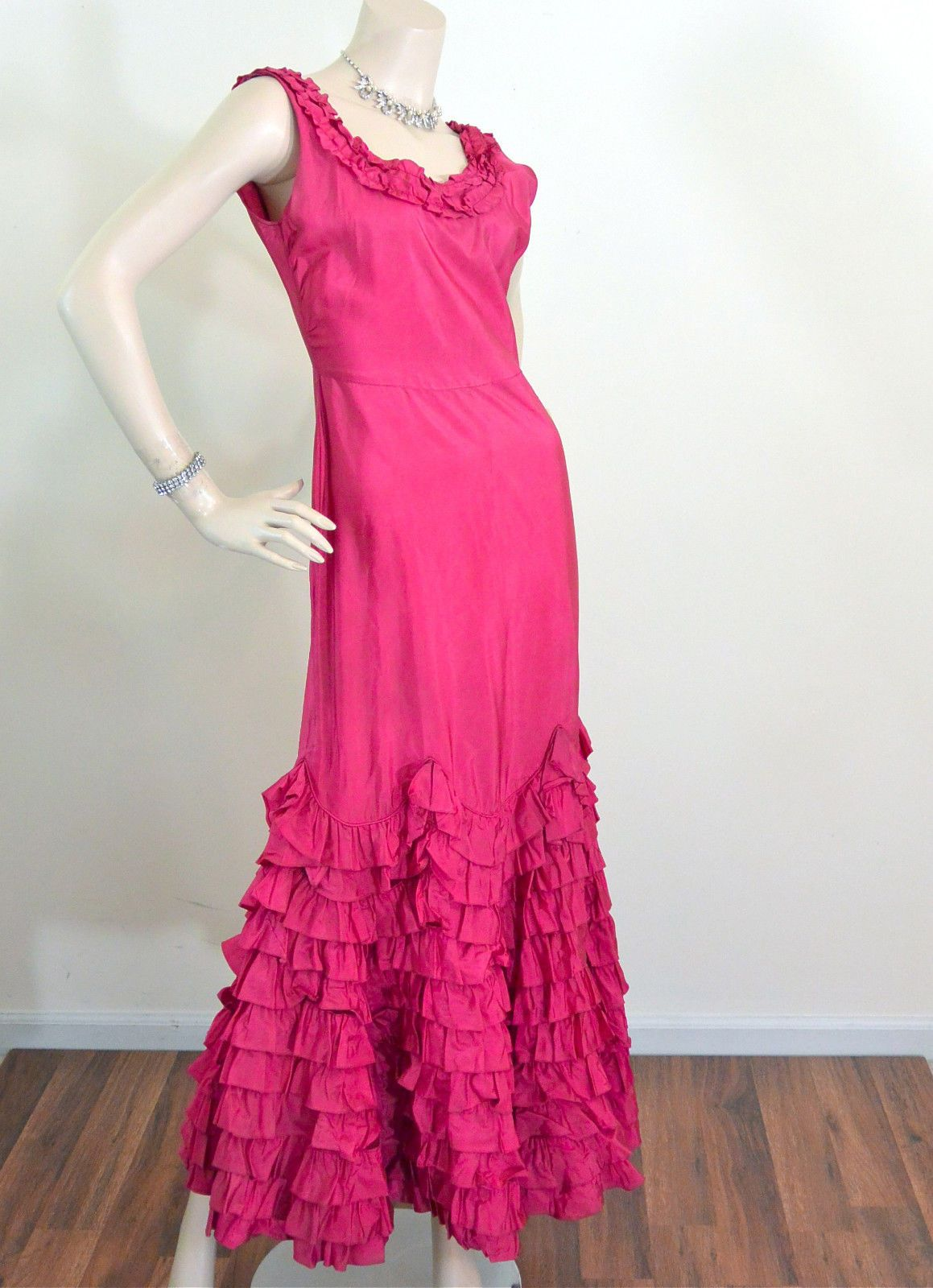 Vtg 30s RUMBA RHUMBA Evening Party Dancing Dress Hollywood Glam ...