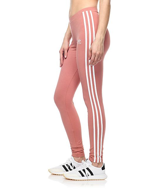 a253abf54bf90 An on-point streetwear athlook starts with the adidas 3 Stripe Leggings.  These peachy
