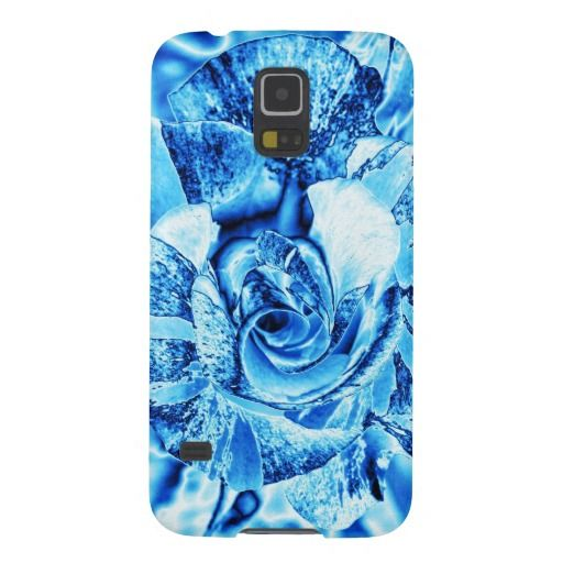 Blue Ice Rose Photo Edit Cases For Galaxy S5