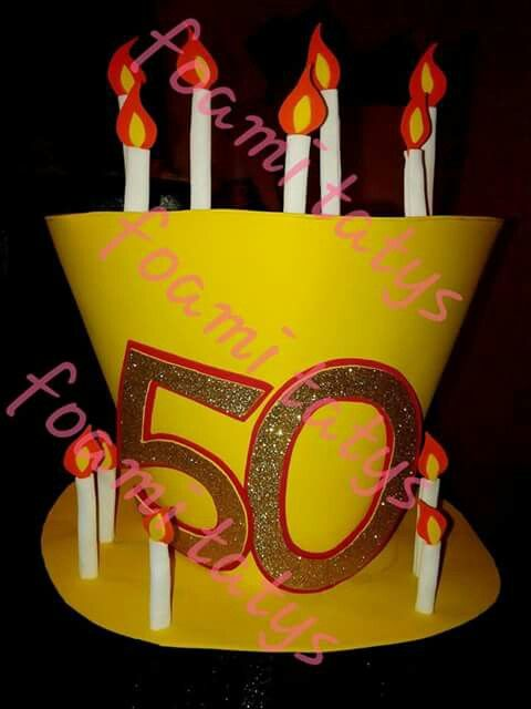 38c5f24c24f Sombrero loco cumpleaños 50