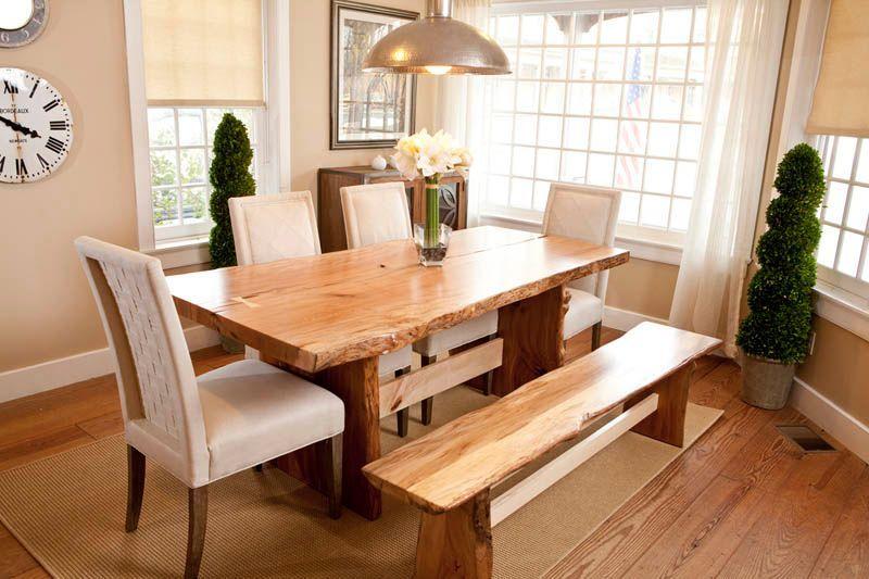 Natural Edge Furniture Dining Tables Meja Kayu Kayu Meja