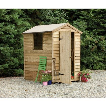 larchlap pressure treated shed 6x4ft at homebase be inspired and make your - Garden Sheds Homebase