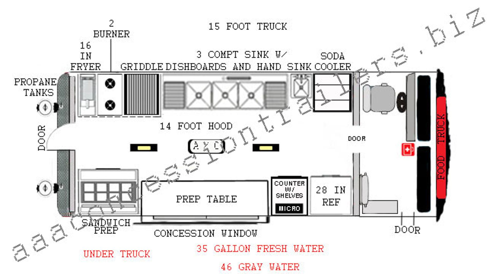 Awe Inspiring Food Truck Autward Design 15 Foot Food Truck Plan 14 Foot Food Wiring Cloud Geisbieswglorg