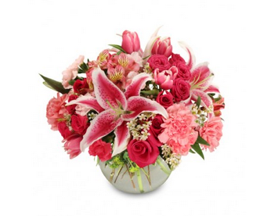 Hot pink for someone special? Let us deliver w #sprays #roses & #lilies! #NashvilleFlorist http://www.uniqueflowerfashions.com/product/va01113/isnt-it-romantic