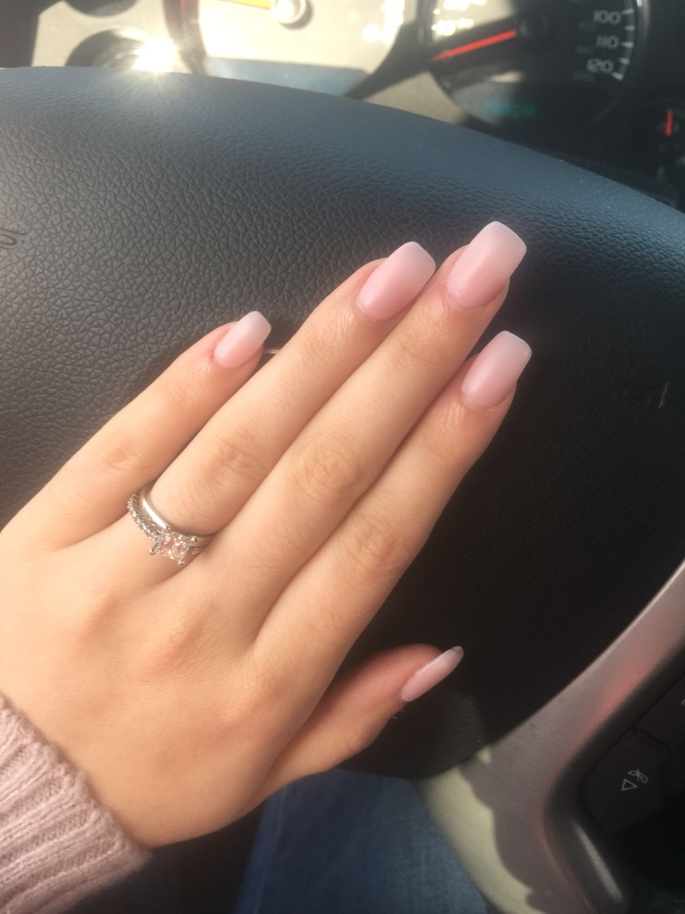 Acrylic Nails With Shellac Overlay With Images Pink Acrylic Nails Overlay Nails Natural Acrylic Nails