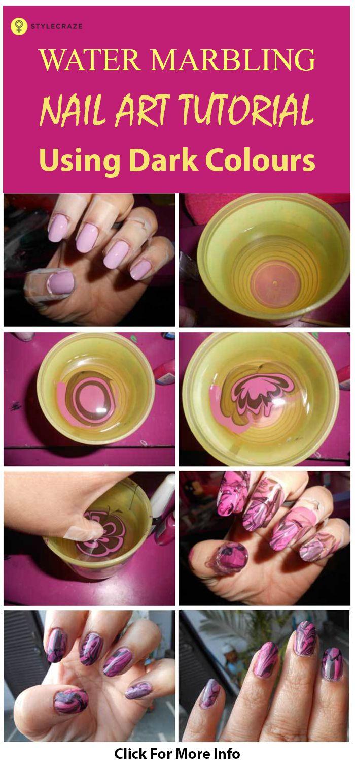 Top 10 Water Marble Nail Art Design Tutorials Pictures For 2019 Nail Art Diy Easy Nail Art Tutorial Nail Art At Home