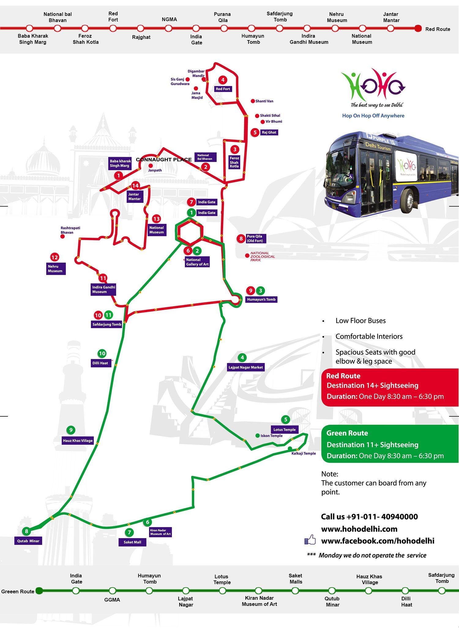 Hop On Hop Off Route Map Hop On Hop Off Delhi SightseeingTour - Us bus routes map