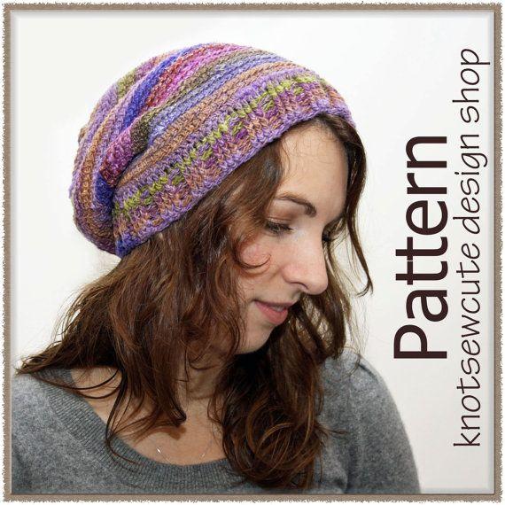 NEW PATTERN  Dahlia Slouch  Crochet Pattern by knotsewcute on Etsy, $4.99