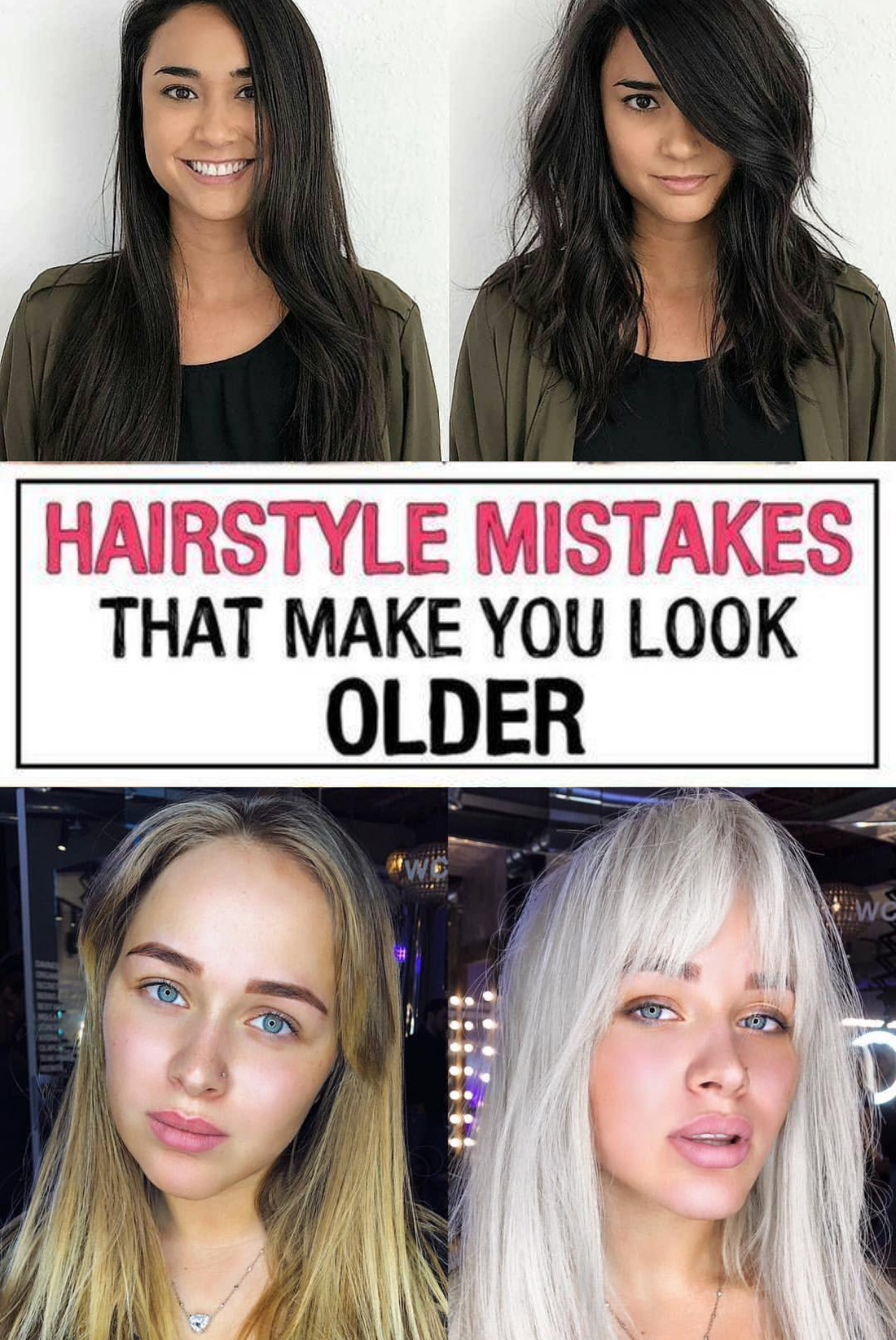 37 Hairstyle Mistakes That Are Aging You In 2020 Beauty Tips For Face Hairstyle Hair Advice