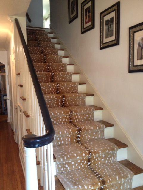 Ideas Envision Design Stair Runner Staircase Design Foyer   Antelope Carpet On Stairs   Stark   Patterned   Helios   Farmhouse   Foyer