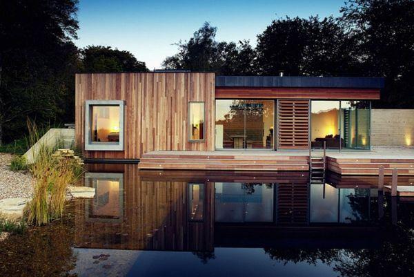 la-maison-en-bois-avec-piscine Bricolage \ Décoration Pinterest