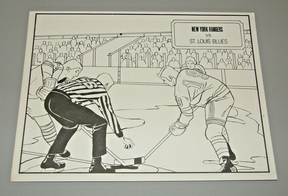 VTG Venus PARADISE Blank Color Pencil By Number NHL Hockey ...
