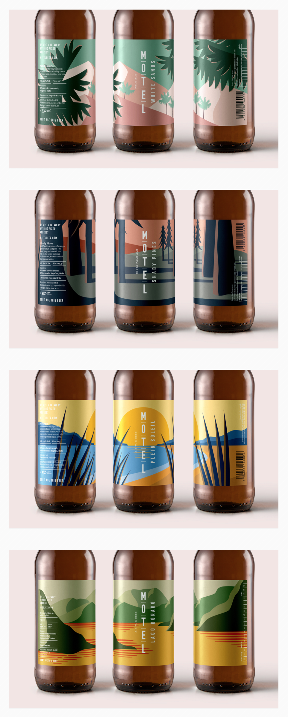 Motel Beer design featured on Oh Beautiful Beer