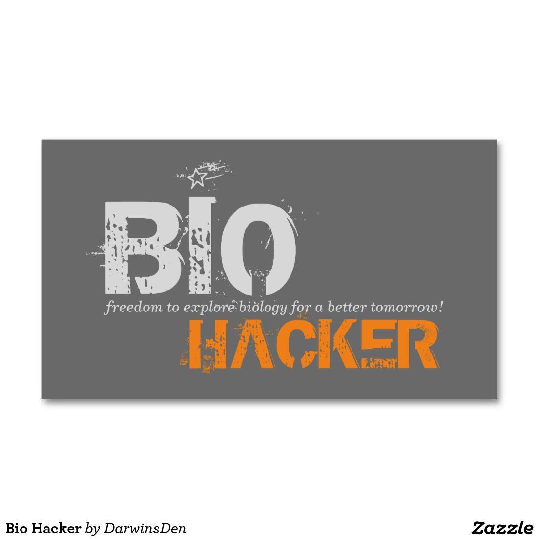 Bio Hacker Business Card Darwins Den Clothing Gifts Pinterest