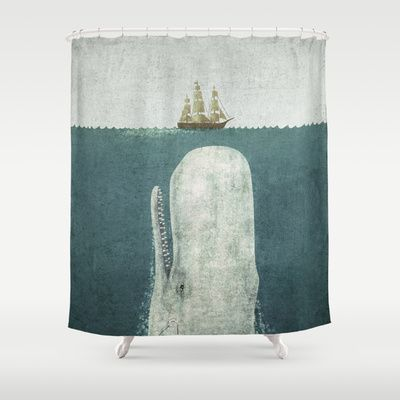 The White Whale Shower Curtain by Terry Fan - $68.00