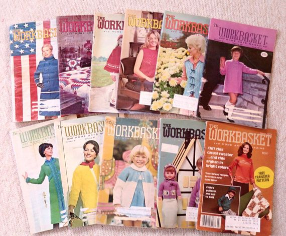 11 Workbasket Magazines Knit Crochet Patterns 1970s Back Issues