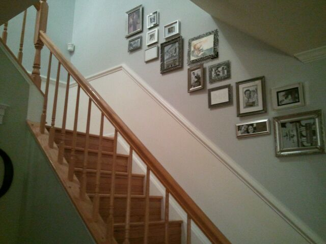 Photo Frame Collage Up Staircase