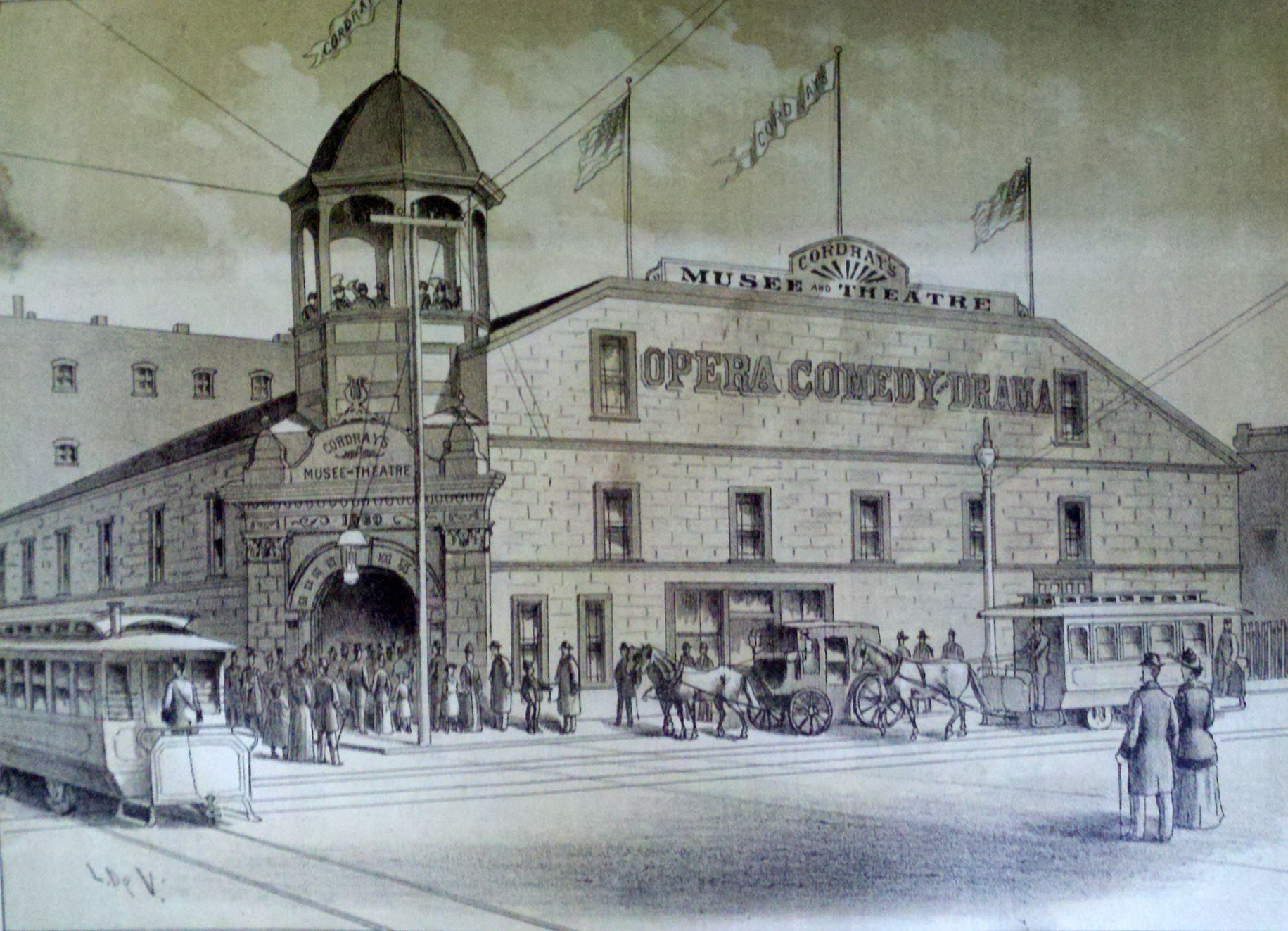Cordrayu0027s Musee Theatre, A Popular Vaudeville House In Downtown Portland,  As It Appeared In The Late (Image: The West Shore Magazine)