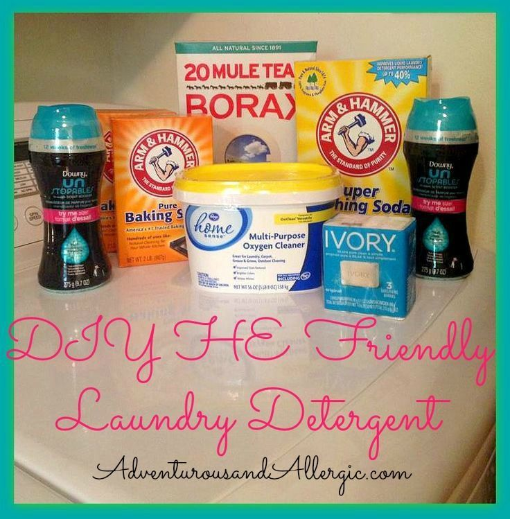 Homemade High Efficiency Washer Friendly Laundry Detergent Diy