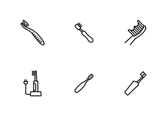 Toothbrush Equipment Icons By Vector Win Icon Icon Set Vector Brushing Teeth