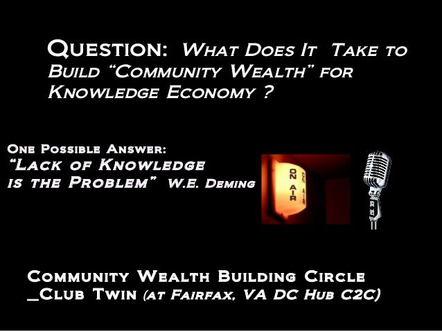 "what is ""Community Wealth"" ??"